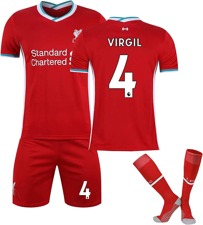 Jersey Shorts Socken Anzug Jersey Sport Erwachsene//Kinder-Kits f/ür Liver-Pool Personalized Jersey # 4 Virgil Kit Fan Sweatshirt-2020//2021