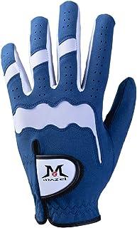MAZEL Premium Men's Golf Gloves Left Hand,Hot Wet Weather Sweat-Absorbing,Fit Size S M L XL