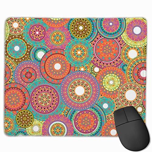 Muis Pad Millefiori Mandala Eden Colorway Mousepad Niet Slip Rubber Gaming Mouse Pad Rechthoek Muis Pads voor Computers Laptop