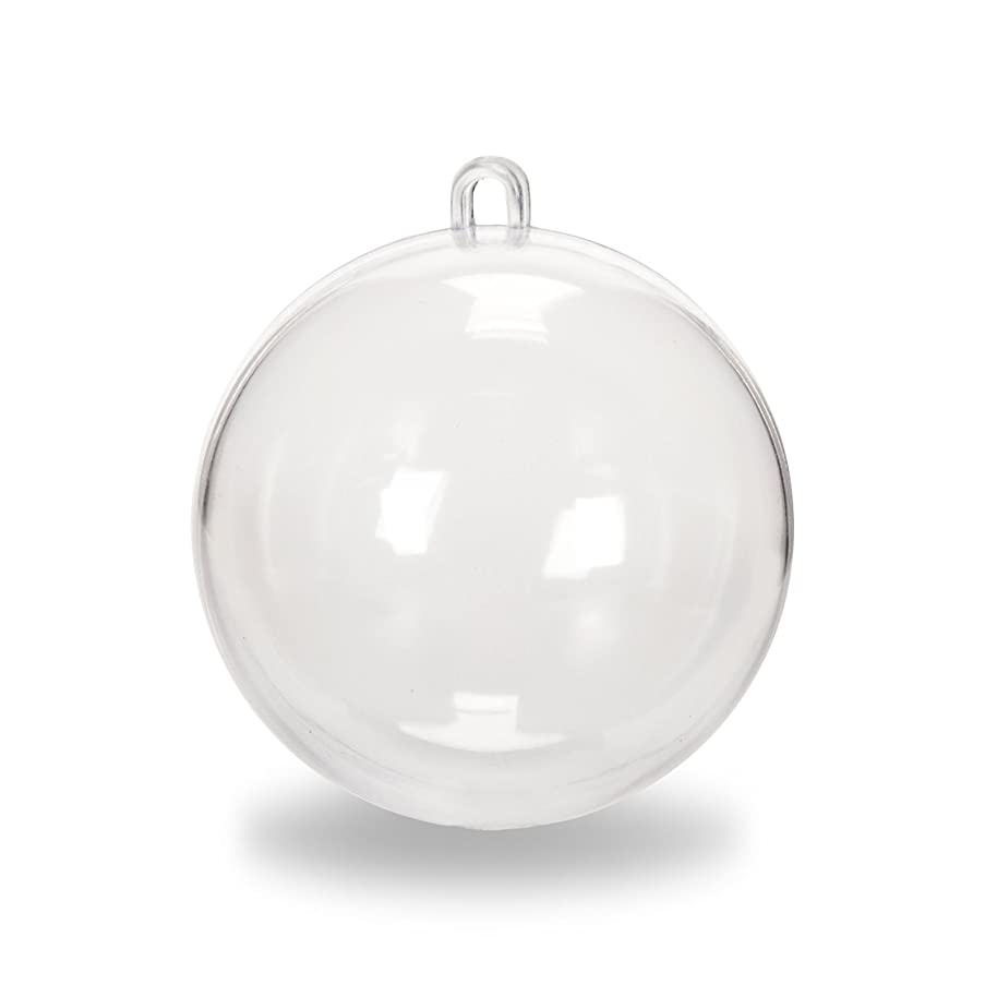 Lavender Clear DIY Fillable Plastic Ball Craft Ornaments 50 mm - Pack of 12