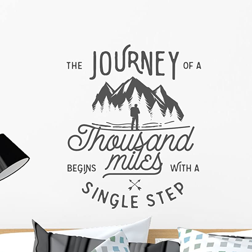 Wallmonkeys Wilderness Quote Typographic Emblem Wall Decal Peel and Stick Graphic (24 in H x 24 in W) WM367291