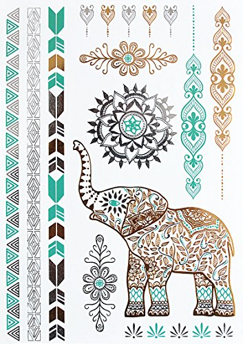 Elefanten Tattoos Henna Design Tattoos Flash Tattoos yh095