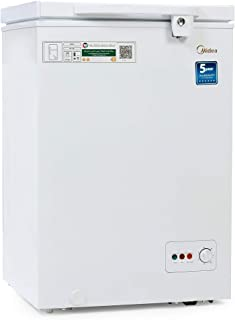 Midea HS129C Chest Freezer White Color 99 Ltr Gross Capacity, 1 Year Warranty