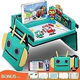 Fivejoy Plateau de Voyage pour Enfant, Sac à Dos Robot Plateau Voiture avec Support iPad évident...