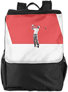 XIVEIER Design Keep Calm And Play Golf Funny Travel Backpack For Mans