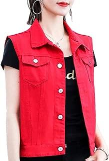 FieerWomen Stretchy Highwaist Solid Color Pockets Slim Fitted Zip Jean
