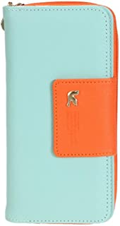 AHOMI Women Card Holder PU Leather Wallet Clutch Bag Long Purses Coin Credit