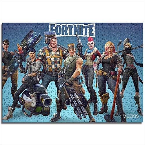 CELLYONE Puzzle für Erwachsene 1000 Teile Fortnite Spiel 1000 Stück Puzzle Wohnkultur Familienunterhaltungsspielzeug(38x26cm)