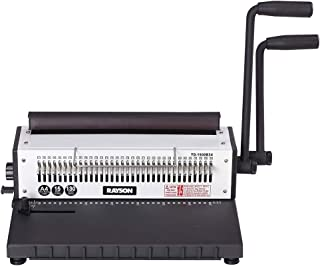 Rayson TD-1500B34 Binding Machine, Square Size Holes, 3:1 Pitch Wire-O Binder Punch 15 Sheets/Bind 130 Sheets with Sturdy Metal Construction