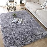 Alfombra de peluche, alfombra de área blanda para sala de estar, alfombra de piel artificial, estera de yoga antideslizante, sofá de piso de dormitorio, manta de terciopelo mullido, cojín de la ventan