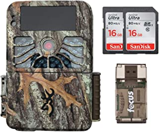 Browning Recon Force 1080p 4K Video, 32MP Trail Camera (BTC7-4K) with Two Memory Cards and Focus USB Reader