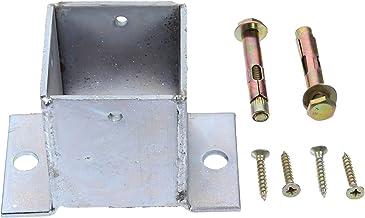 YARNOW Post Base Cover Rvs Hout Post Anker Basis Met Schroeven Voor Dek Veranda Leuning Reling Ondersteuning Protction