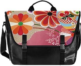 Bolsa de lona clásica para hombre y mujer, diseño de flores, estilo retro