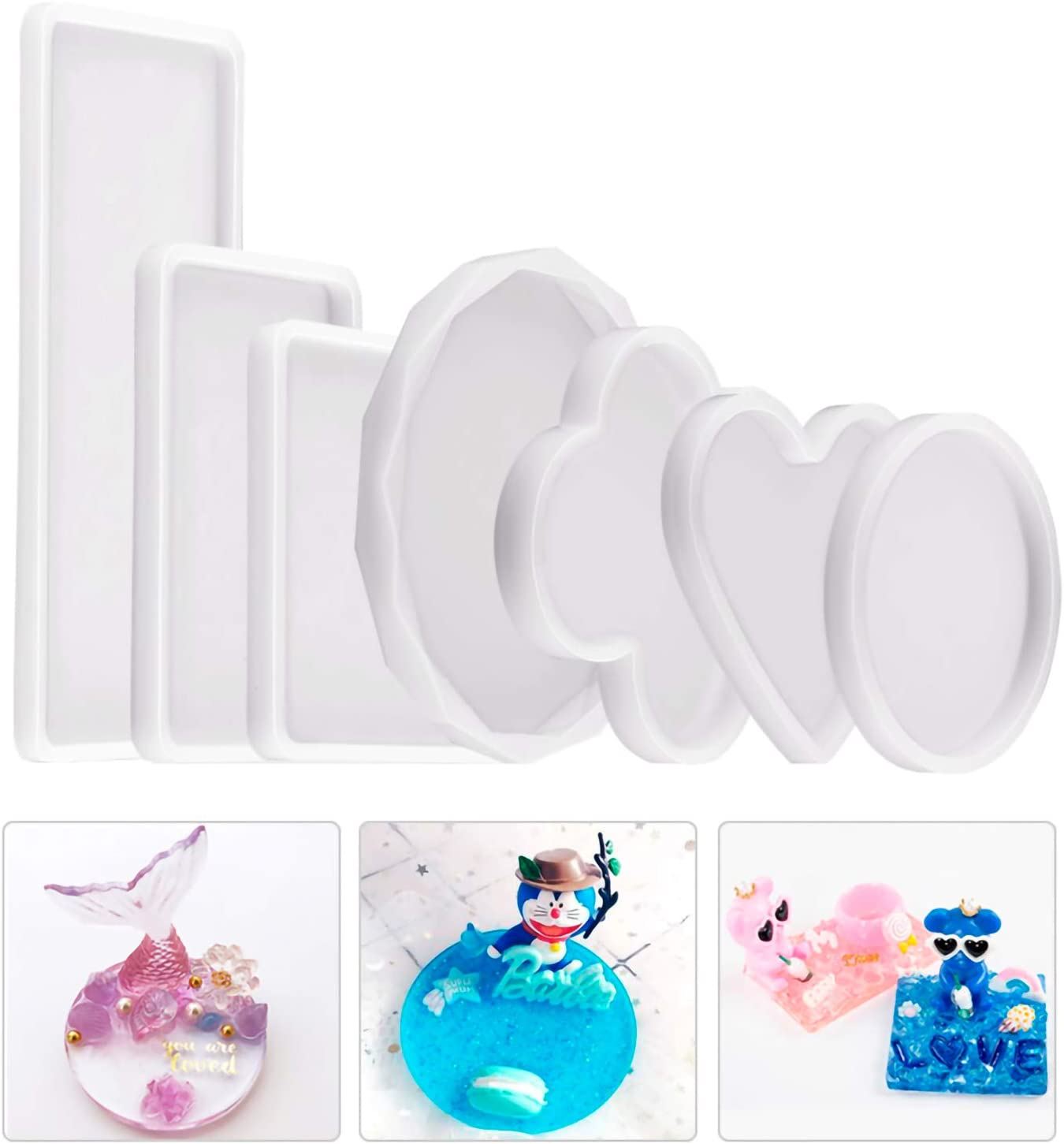 WANDIC Resin 4 years warranty Molds Set Sale Special Price of 7 Rou with Casting Epoxy Moulds