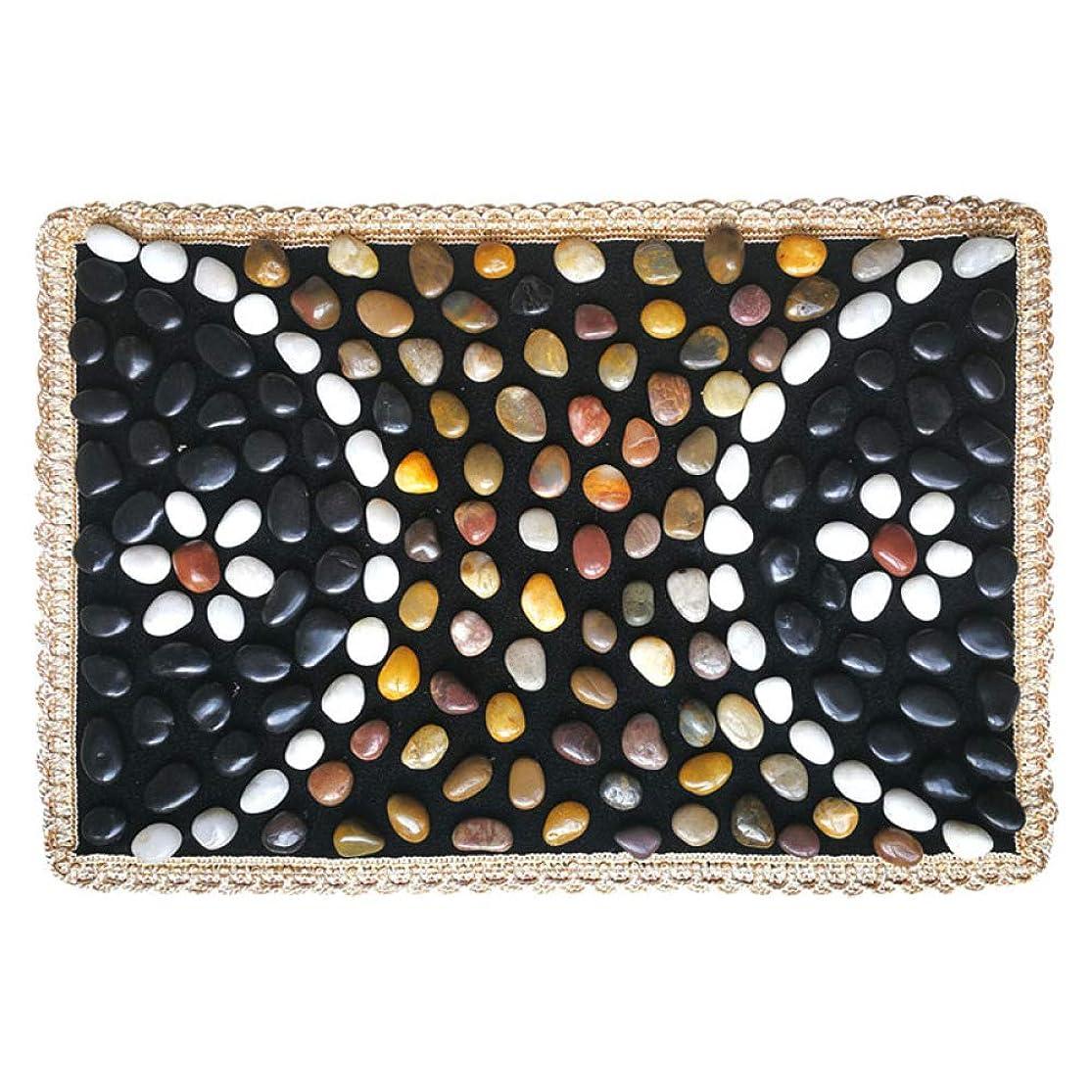 フォージアルプス疑わしいフットマッサージとマッサージマットを備えた家庭用ペディキュア用の石畳リフレクソロジーパッド,D