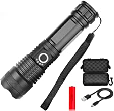LED Flashlight USB Rechargeable Flashlight Waterproof 5 Modes scalable 18650 Battery Camping Outdoor