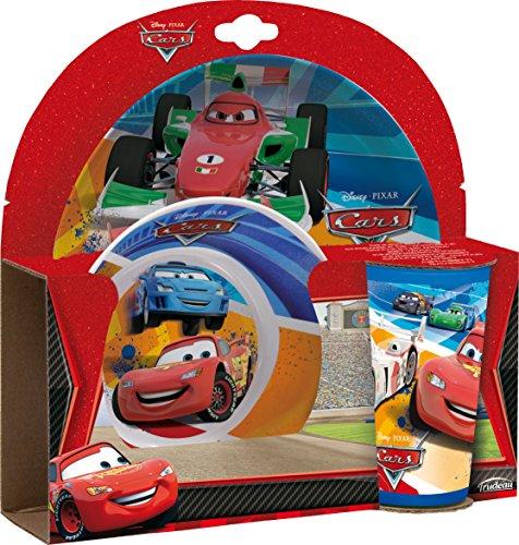 Trudeau 2684415 Geschirrset Disney Cars, Melamin/Kunststoff, 23,5x5,5x23 cm, 3-teilig