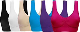 ohlyah Women's Sports Bra Seamless Comfort Yoga Bras with Removable Pads