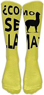 iuitt7rtree Calcetines Largos de Vestir Casual Llama Football Calcetines cómodos y Transpirables sobre la pantorrilla6578