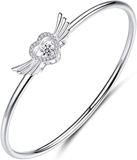 سوار قلب من الفضة الإسترلينية 925 من إل إي واي آي قابل للتعديل سلسلة أساور مجوهرات هدايا للنساء