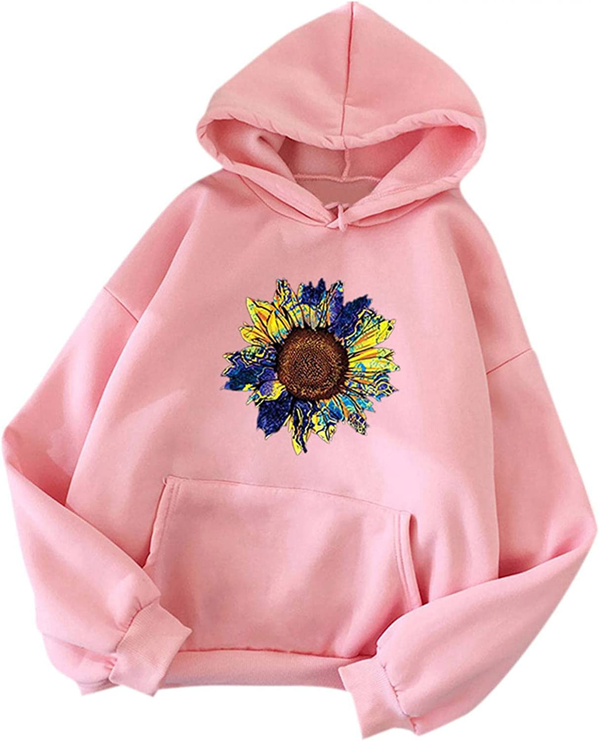 UOCUFY Womens Hoodies, Womens Casual Plus Size Cute Printing Sweatshirts Long Sleeve Pullover Hoodies Autumn and Winter