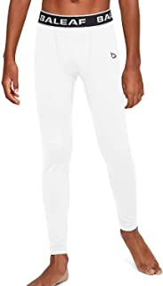 Baleaf Youth Boys' Compression Pants Baselayer Leggings Running Basketball Tights