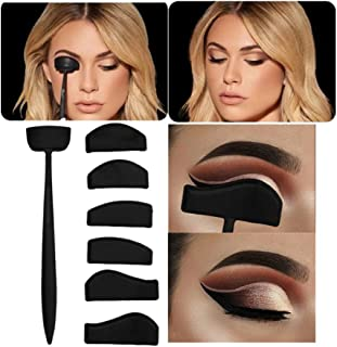 6 in 1 Silicone Eyeshadow Crease Line Kit - Easy Eyeshadow Eyeliner Stencil Cut Stamp Applicator - Lazy Quick Eye Makeup T...
