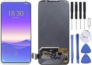 香港携帯電話の付属品 Meizuの16XS用液晶画面とデジタイザのフルアセンブリ 交換部品 (色 : 白)