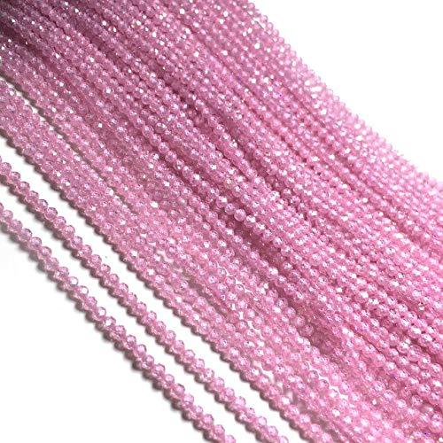 Piedra natural con cuentas facetadas sueltas cuentas de cristal de circón pequeñas cuentas para la fabricación de joyas DIY collar pulsera accesorios tamaño m
