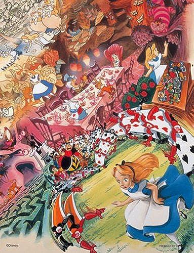 (2 dedicated Petit 16.5cm x 21.5cm, corresponding panel) World of Disney Jigsaw Puzzle Petit 2 500 Small piece Alice (japan import)