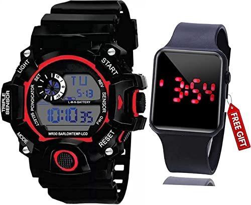 Combo Black Dial Kids Digital Watch for Boys and Mens Watch
