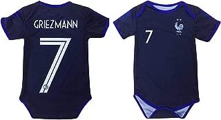 Kitbag Griezmann Antoine France #7 Soccer Jersey Baby Romper Infant Toddler Onesie Premium Quality