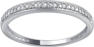 0.05 Carat Round Diamond Wedding Band & Stackable Set in 10K Gold