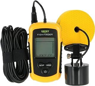 Lixada Buscador de Peces Sonar Portátil LCD Pantalla Color/Gris 100M/328ft Sonda de Detección para Pesca en el Mar y Hielo