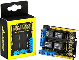 KEYESTUDIO 4 Channel Relay Shield 5V for Arduino