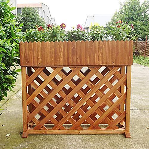 Zhyaj Rechteck Aus Holz Erhöhte Hochbeet Pflanzer Outdoor-Anlage Bank Für Urban Gardening Yellow 92 * 39 * 80 cm