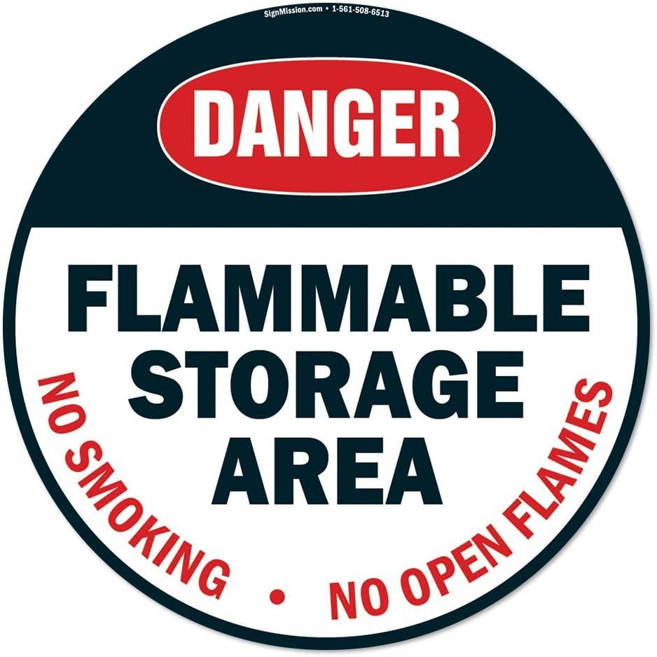 Flammable Storage Area Non-Slip Floor Marker | 6 Pack of 16