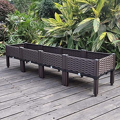 EIIDJFF Jardineras Exterior Balcon Contenedor de Plantas extraíble Cama de jardín elevada con...