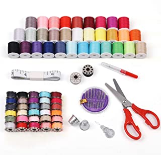 LIANTRAL Sewing Kit, Sewing Thread 100 Quantity Mixed Colors Sewing Supplies for Sewing Machine, Emergency and Travel