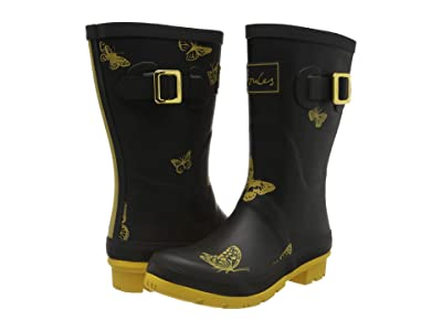 Joules Molly Welly (Black Butterfly) Women