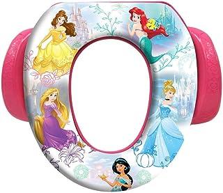 Disney ディズニー プリンセス 幼児用 補助便座 おまる トイレトレーニング シンデレラ ベル アリエル ジャスミン ラプンツェル オーロラ (ホワイトxブルー) [並行輸入品]
