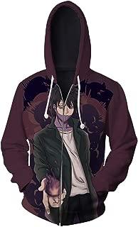 Unisex Dabi Kirishima Eijiro Hoodies Sweatshirt Cosplay Costume Zip-up Jacket