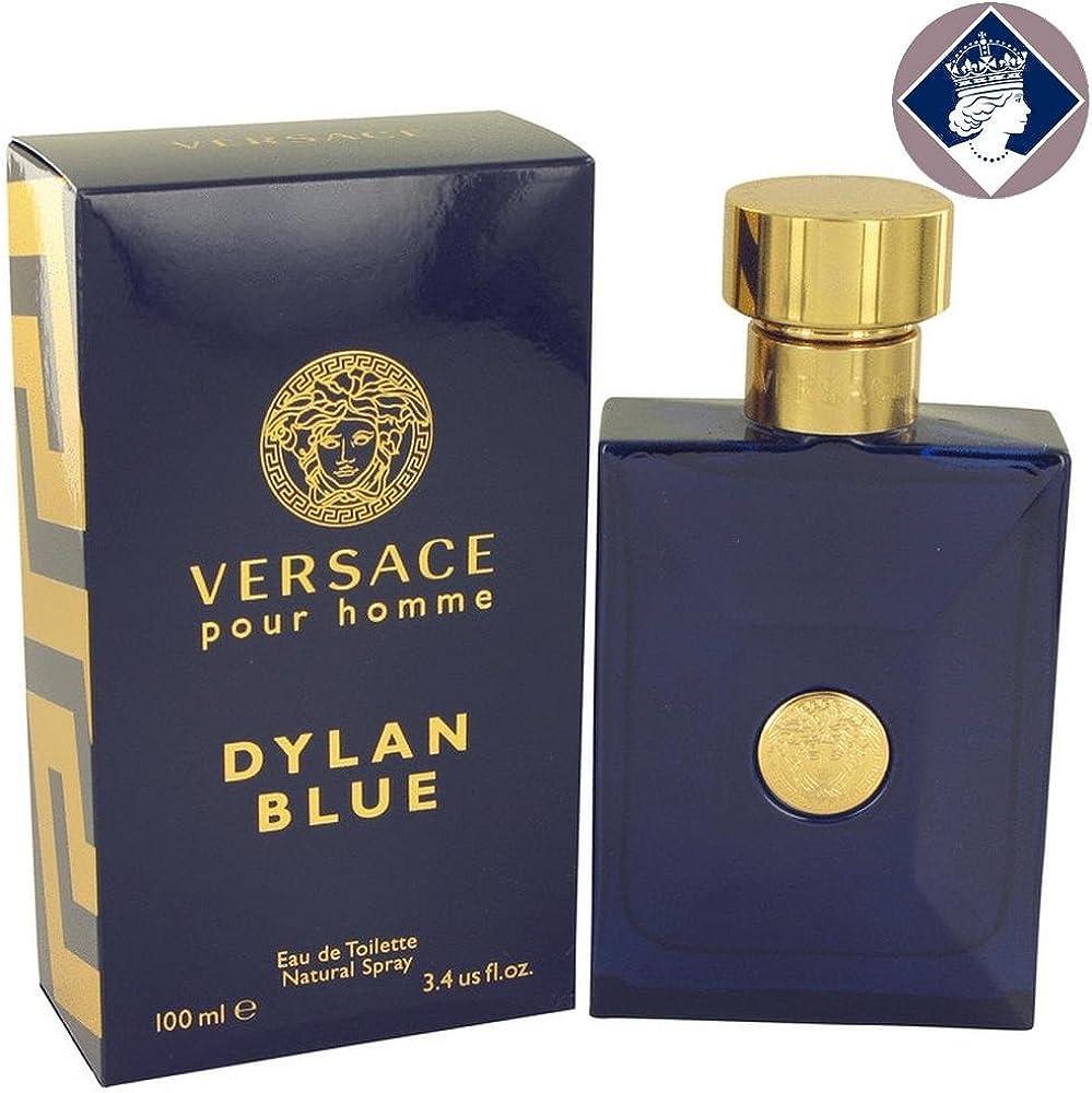 Gianni versace pour homme dylan blue 100 ml, eau de toilette,profumo per uomo spray  8011003825745