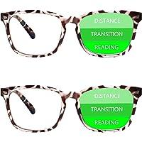 Sumkyle 2-Pack Progressive Multifocal Anti Blue Light Reading Glasses