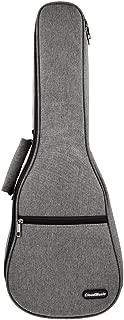 CLOUDMUSIC Ukulele Case 10mm Padded Ukulele Backpack Case Soprano Concert Tenor Ukulele Case Black Blue Grey (Tenor, Grey)