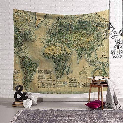MEOBHI Wandtapijt in Scandinavische stijl, vintage-stijl, polyester, dunne deken, yoga-sjaal