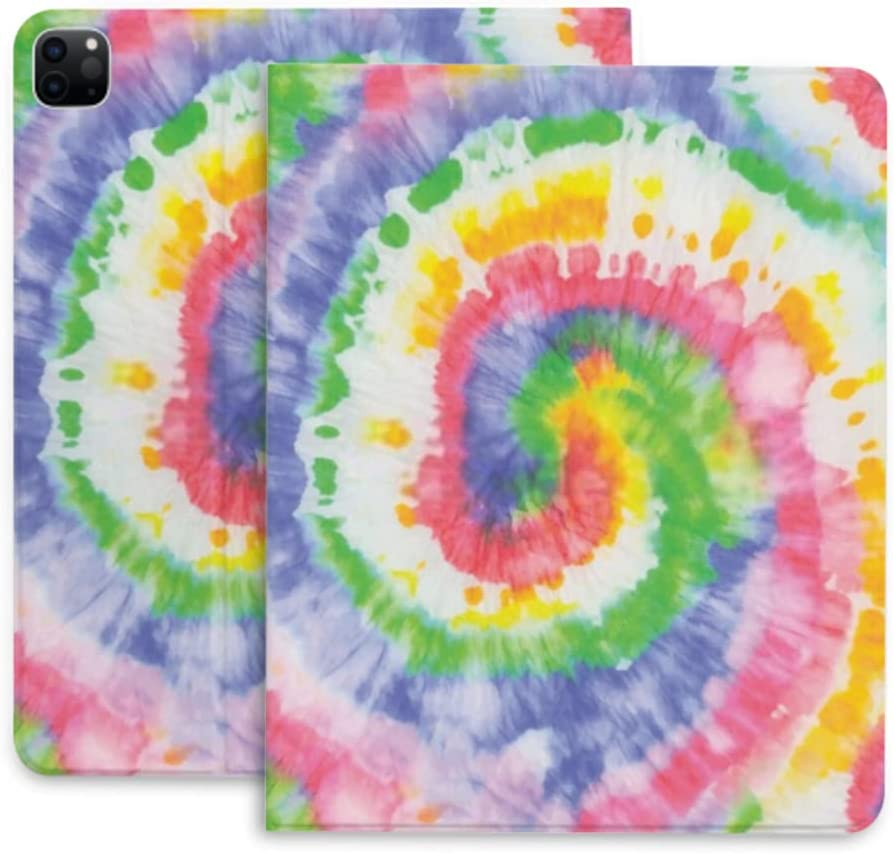 Case for Ipad Pro 12.9 Tie Dye Spiral Quality inspection Elegant C Protective Swirl Rainbow