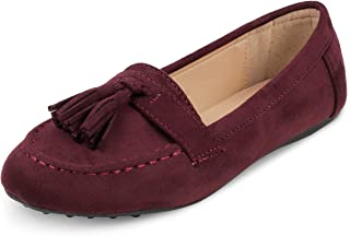 tresmode Womens Fashion Tassel Suede Blue Loafers