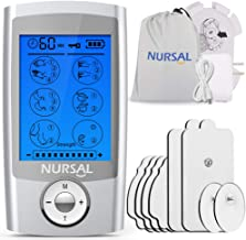 NURSAL EMS TENS Unit Muscle Stimulator with 8 Electrode Pads/Pouch/Pads Holder,..