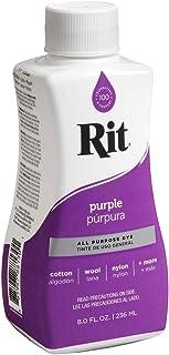 Rit Purpose Liquid Dye, 1-Pack, Purple, 8 Fl Oz